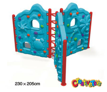 Children climbing wall