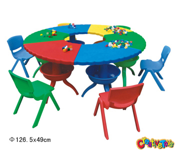 Children plastic table
