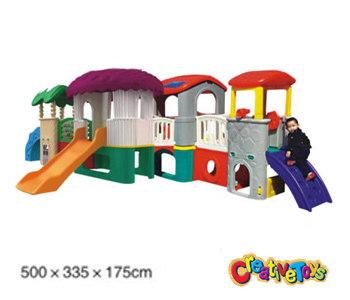 Children playhouse slide