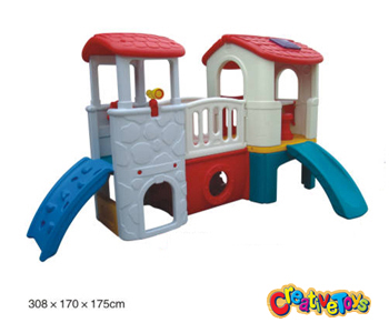 Children slide with play house