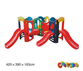 Outdoor plastic slide